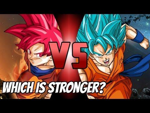 Super Saiyan God Vs Super Saiyan Blue