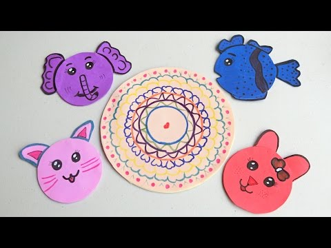 How to make cute Animal Coasters from paper | Easy Crafts
