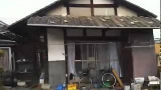 3 11 東日本大震災 福島県いわき市の様子 3月11日 好間町 揺れる木造家屋