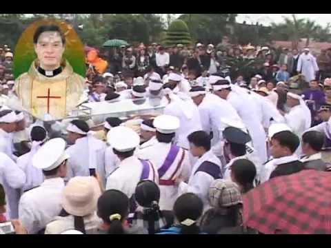 lễ an táng cha Giuse Vũ Văn Đại 14(cuối) đền thánh Sa Châu làng Gòi Giao Châu