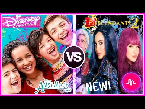Andi Mack VS Descendants 2 Musical.ly  | Top Disney Channel Stars Battle 2018