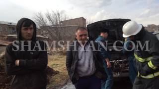 Պռոշյան գյուղում հրդեհ է բռնկվել «Samand» մակնիշի ավտոմեքենայում
