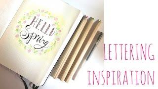 Mi primer lettering: Hello Spring. Inspírate conmigo