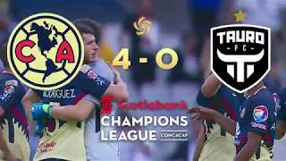 Sccl 2018: Club America Vs Tauro F.c. Highlights