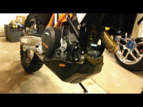 5of5 KTM 690R Skid Plate Carbon Fiber Reinforcement