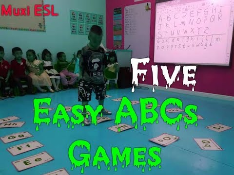 212 - Easy Alphabets Games | ESL Games For ABCs | Review Letters | Mux's ESL Games |