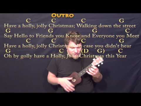 Holly Jolly Christmas - Ukulele Cover Lesson in C with Chords/Lyrics