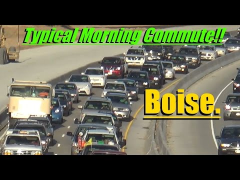 Morning Traffic In Boise Idaho