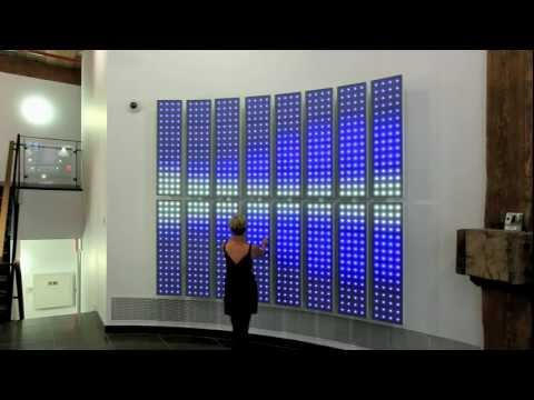Interactive LED Art Wall by Robert Stratton