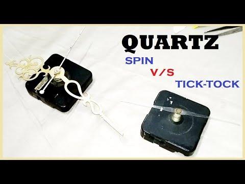 EASY REPAIR QUARTZ CLOCK || SILENT spin vs TICK-TOCK