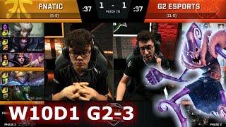 fnatic vs g2 esports   game 3 s7 eu lcs spring 2017 week 10 day 1   g2 vs fnc g3 w10d1
