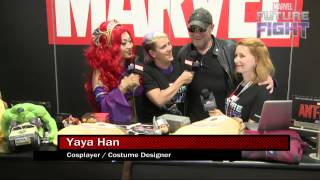 Yaya Han & Michael Rooker Team-Up on Marvel LIVE! at San Diego Comic-Con 2015