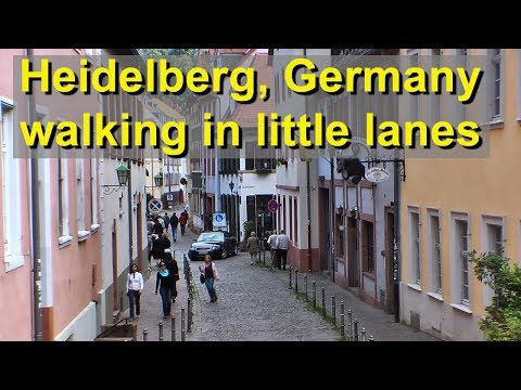 Heidelberg's Pedestrian Zone, walking the little lanes