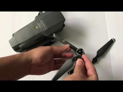 How To Install Propellers For DJI Mavic Pro.
