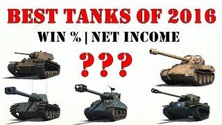 World of Tanks - BEST TANKS OF 2016! [WIN% & CREDIT EARNING]