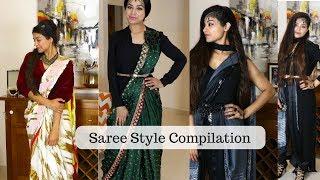 Saree Style Compilation | Modern Saree Draping