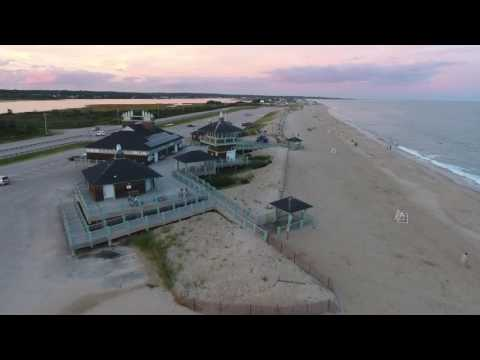 DJI Phantom 4 drone over Misquamicut state beach Westerly RI Part 1