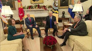 Heated border wall discussion between Pres. Trump, Chuck Schumer, Nancy Pelosi