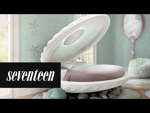"""a """"the little mermaid"""" clamshell bed now exists in the world - youtube"""