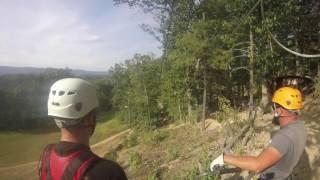Ziplining in Shenandoah