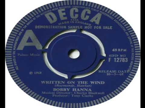 Bobby Hanna   Written On The Wind 1968