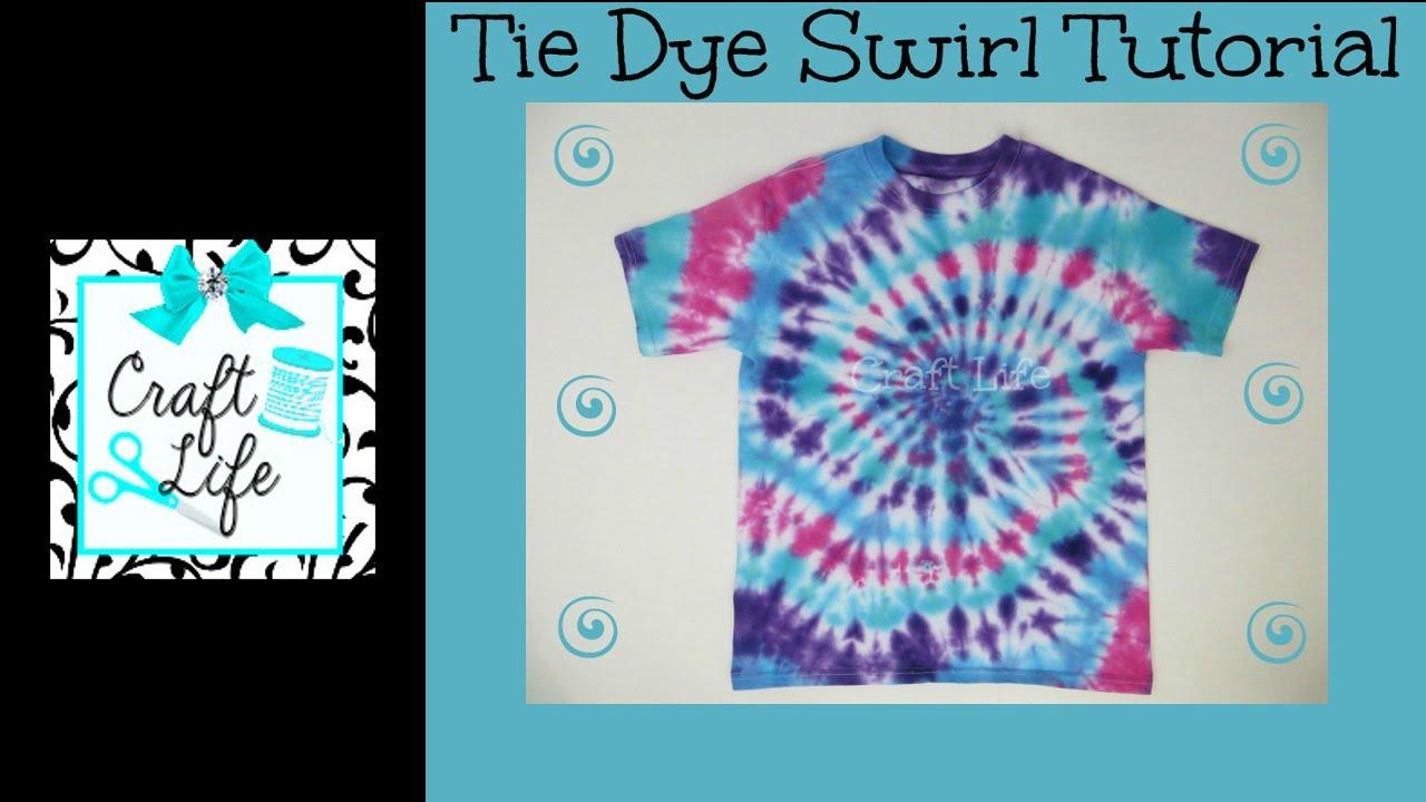 Craft Life ~ Jacy and Kacy DIY ~ Swirl Tie Dye Shirt \u0026 Pillowcase Tutorial - YouTube