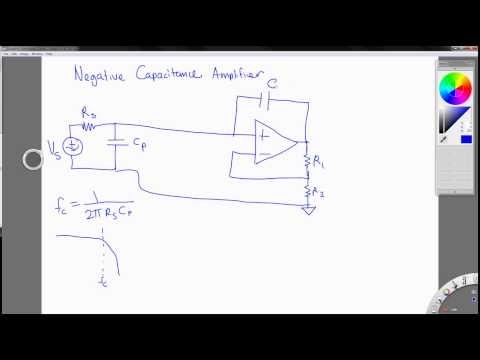 Negative Capacitance Amplifer Example