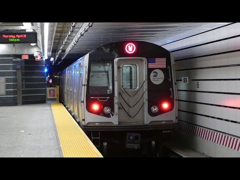 IND 2nd Ave Line: R160B Alstom & Siemens Q & W Trains at 86th St-2nd Ave (Weekday-G.O.)