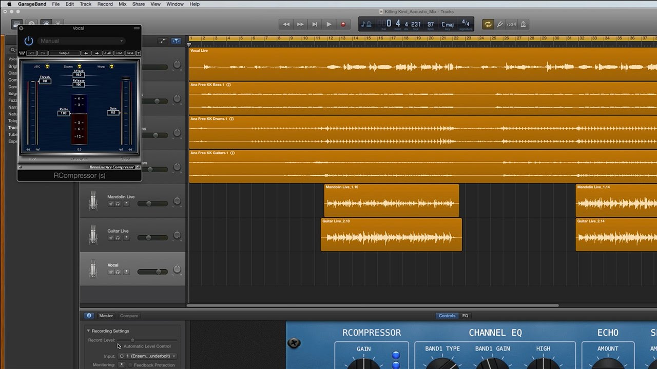 How to Use Plugins in GarageBand