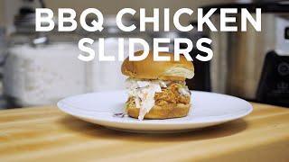 EASIEST Shredded BBQ Chicken Sliders