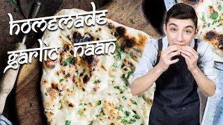 Homemade Garlic Naan | Chef Eitan Bernath