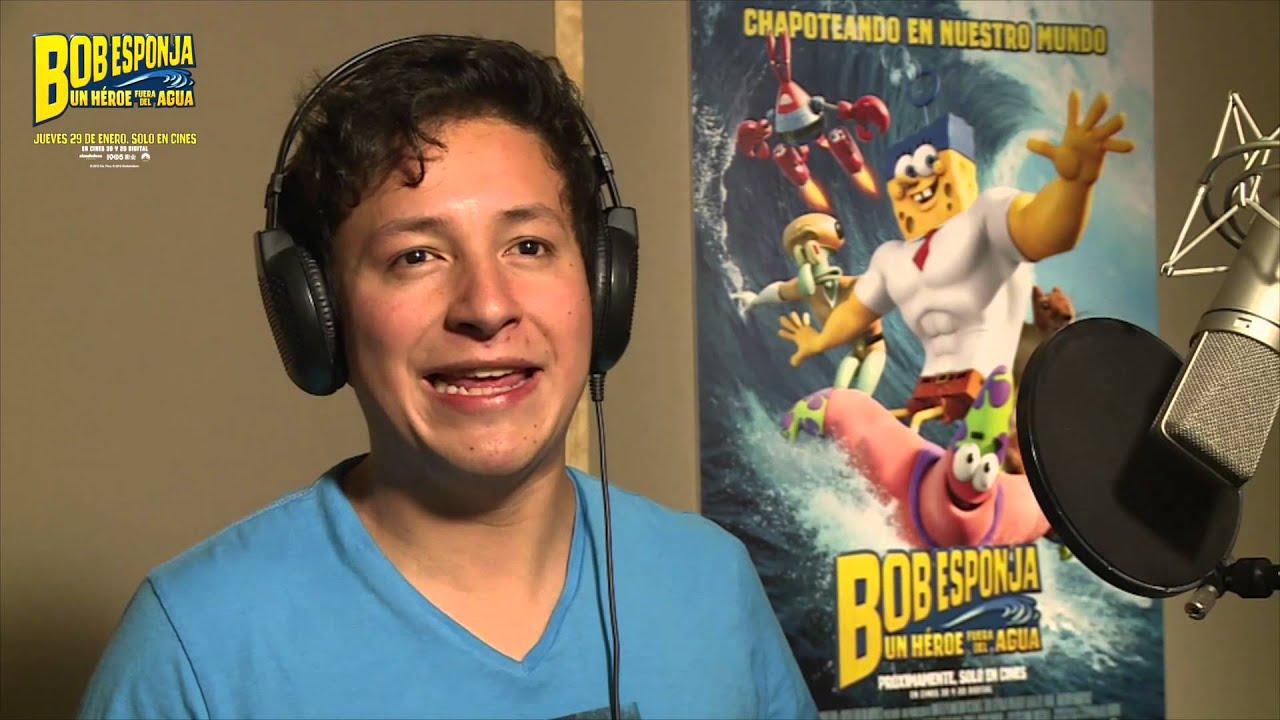 Christian Herrera del Werevercrew en el doblaje de BOB ESPONJA