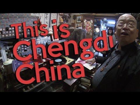 Record Shopping at Chengdu's Art & Antique Market