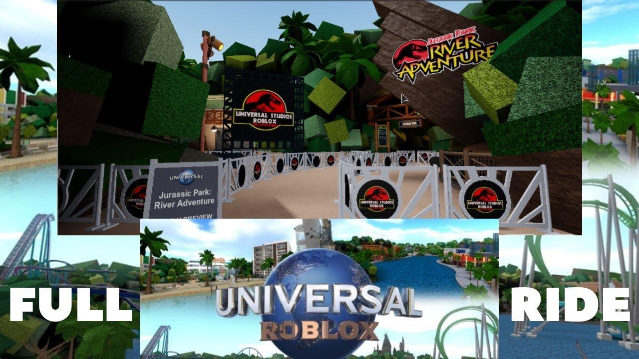 Universal Roblox Jurassic Park River Adventure Full Ride -