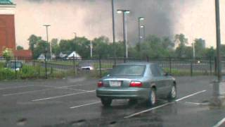 Tornado passing through downtown Springfield, Ma.