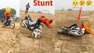 😳Stunt going worng Hero splander bike  stunt & accident by Nishu Deshwal