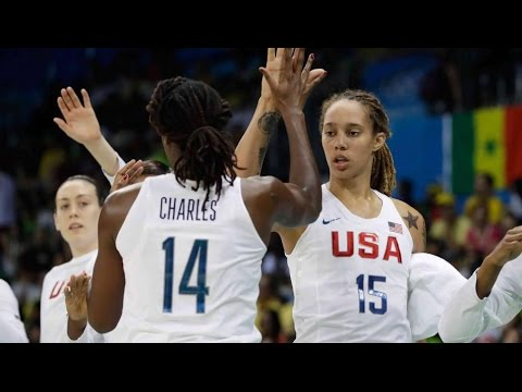 Rio Olympics 2016 Women's Basketball USA vs. Canada 8/12/16