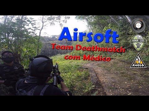 ALEMÃO AIRSOFT - TEAM DEATHMATCH COM MÉDICO - SELVA AIRSOFT 17/09/2017