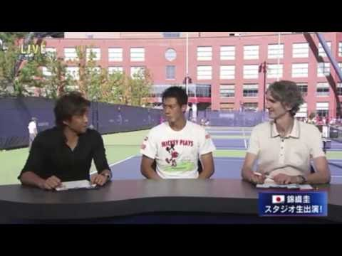 Kei Nishikori 1R studio interview | US Open 2016