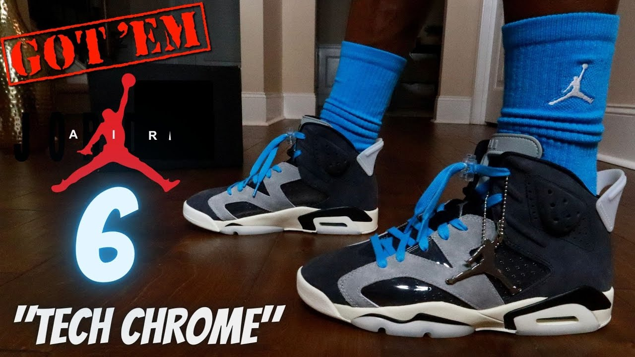 "EARLY LOOK!! JORDAN 6 ""TECH CHROME"" REVIEW & ON FEET W/ LACE SWAPS!!"