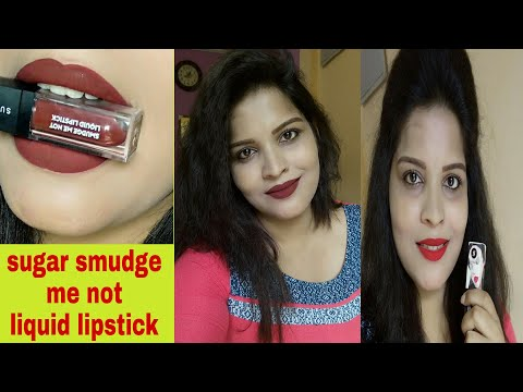 sugar-smudge-me-not-liquid-lipstick  -new-shades-  -honest-review-n-swatch-  -pooja-avni-singh