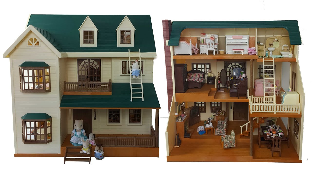 House On The Hill Room Tour Sylvanian Families Calico