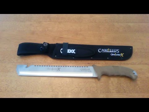 Camillus Carnivore X Grip Stippling - YouTube