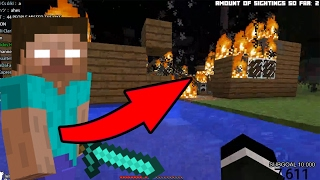 HEROBRINE BURNED MY HOUSE (Minecraft Herobrine Documentary)