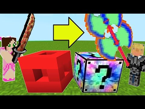 Minecraft: ROBLOX VS MIXED LUCKY BLOCK CHALLENGE! - Modded Mini-Game