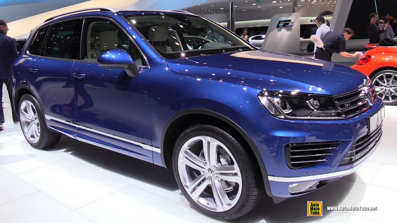 2015 Volkswagen Touareg TDI R-Line - Exterior and Interior Walkaround - 2015 Geneva Motor Show ...
