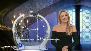 Powerball Results Draw 1209   Thursday, 18 July 2019   the Lott