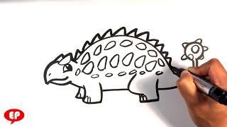 How to Draw a Dinosaur - Ankylosaurus
