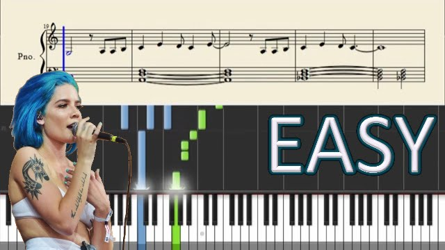Halsey Hurricane Easy Piano Tutorial Sheets Youtube