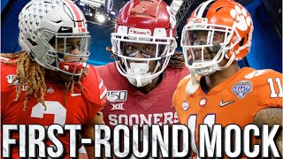 COMPLETE 2020 1ST ROUND NFL MOCK DRAFT 🔥